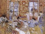 Edouard Vuillard Naked girls sitting on the sofa oil painting reproduction