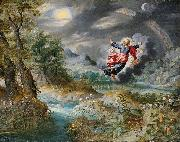 Jan Brueghel the Younger God creating the Sun, the Moon and the Stars oil