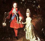 Largillierre james stuart and his sister oil painting artist