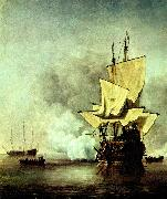 VELDE, Willem van de, the Younger kanonskottet oil painting reproduction