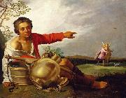 Abraham Bloemaert Shepherd Boy Pointing at Tobias and the Angel oil