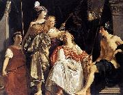 Abraham van den Tempel Minerva Crowns the Maid of Leiden oil painting