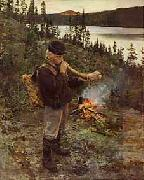 Akseli Gallen-Kallela Paimeni oil painting reproduction