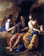 Artemisia Gentileschi Lot and his Daughters oil