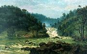 Benedito Calixto Waterfall on Sorocaba River oil painting