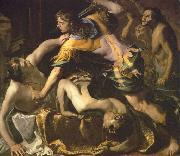 Bernardino Mei Orestes slaying Aegisthus and Clytemnestra oil painting
