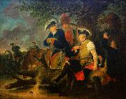 Bernhard Rode Frederick the Great and the Combat Medic, oil painting