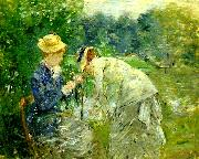 Berthe Morisot i boulognerskogen oil painting reproduction