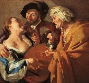 Dirck van Baburen Procuress oil