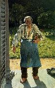 Emile Claus The Old Gardener oil