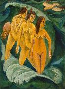 Ernst Ludwig Kirchner Three Bathers oil