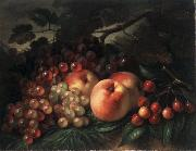 George Henry Hall Peaches, Grapes and Cherries oil painting artist