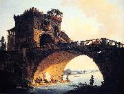 Hubert Robert Dimensions and material of painting oil painting artist