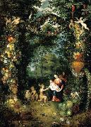 Jan Brueghel the Younger The Holy Family with St John oil