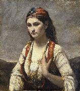 Jean-Baptiste Camille Corot The Young Woman of Albano (L'Albanaise) oil