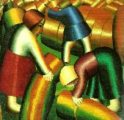 Kazimir Malevich taking in the rye oil painting reproduction