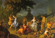Michel-Ange Houasse Bacchanal oil painting reproduction