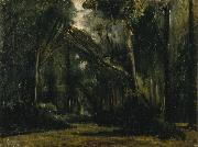 Paul Huet Landscape in the Forest at Compiegne oil painting artist