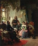 Peter Baumgartner The marriage instructions oil painting artist