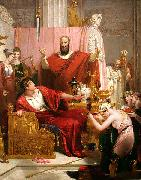 Richard Westall Sword of Damocles oil painting artist