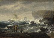 Thomas Birch Shipwreck oil painting artist