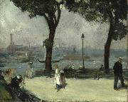 William Glackens East River Park oil painting reproduction