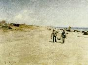 johan krouthen skagens sonderstrand oil painting on canvas