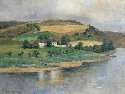 unknow artist A Bend of a River oil painting reproduction