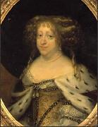 Abraham Wuchters Queen Sophie Amalie painted in oil painting