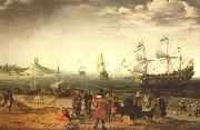 Adam Willaerts The painting Coastal Landscape with Ships by the Dutch painter Adam Willaerts oil painting