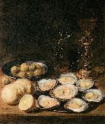 Alexander Adriaenssen with Oysters oil painting artist