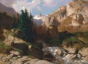Alexandre Calame Calame oil painting reproduction