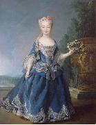 Alexis Simon Belle Portrait of Mariana Victoria of Spain oil painting