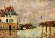 Alfred Sisley uberschwemmung von Port-Marly oil painting reproduction