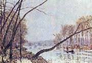 Alfred Sisley Ufer der Seine im Herbst oil painting reproduction