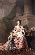 Allan Ramsay Charlotte of Mecklenburg-Strelitz with two of her children oil