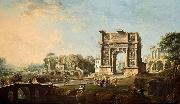 Antonio Joli The Arch of Trajan at Benevento oil