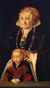 Barthel Bruyn Portrait of a Lady with her daughter oil painting artist