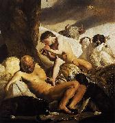CAMPEN, Jacob van Argus, Mercury and Io oil painting artist