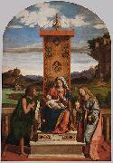 CIMA da Conegliano The Madonna and Child with Sts John the Baptist and Mary Magdalen oil
