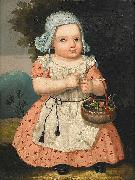 Carl Johan Sjostrand Portrait of the artist daughter oil painting