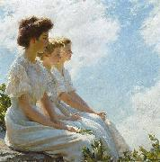 Charles Courtney Curran On the Heights oil painting artist