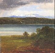 Christian Ernst Bernhard Morgenstern View Across Lake Starnberg to the Benedikte oil