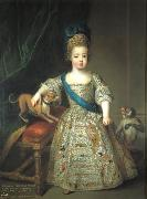 Circle of Pierre Gobert Portrait of Louis XV as a child oil painting