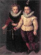 Cornelis Ketel Double Portrait of a Brother and Sister oil painting