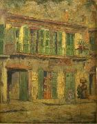 David Maitland Armstrong Toulouse Street, French Quarter oil painting artist