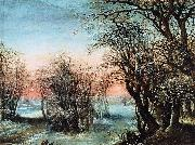 Denys Van Alsloot Winter Landscape oil painting artist