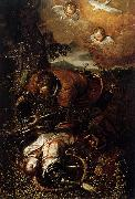 Domenico Tintoretto Tancred Baptizing Clorinda oil painting