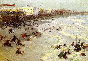 Edward Henry Potthast Prints Oil painting of Coney Island oil