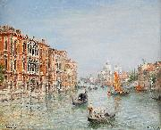 Frans Wilhelm Odelmark Canale Grande - Venice oil painting